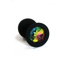Анальная пробка из силикона rainbow